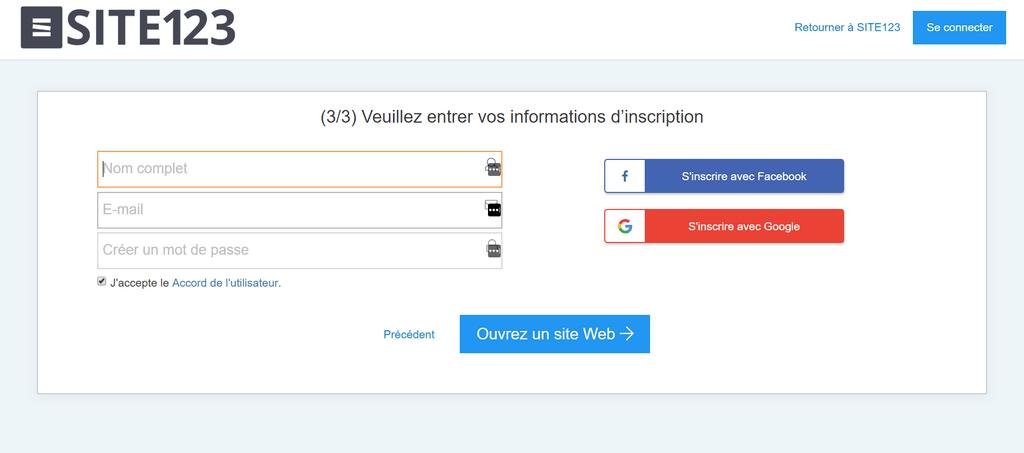 creer compte site123 1024x453 Voici comment créer un site web gratuit sans savoir coder  HTML & CSS, PHP