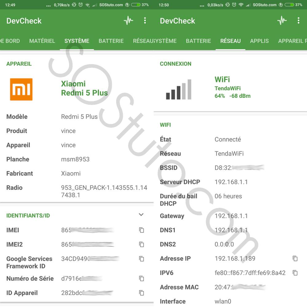 DevCheck Systeme Reseau Comment connaitre le processeur CPU de son smartphone Android