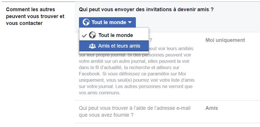 Fin Comment ne plus recevoir de Demande d'Amis sur Facebook