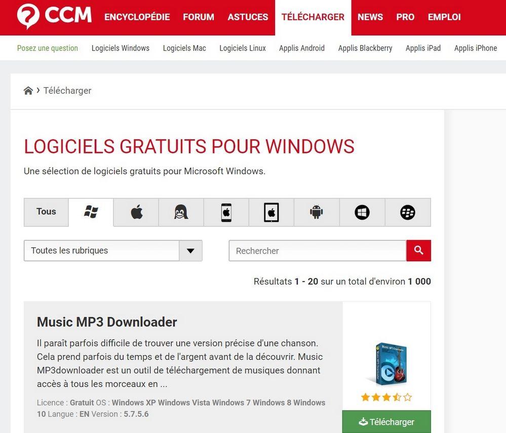 TELECHARGER CCM Top 10 Sites de Téléchargement de logiciels pour Windows en 2019