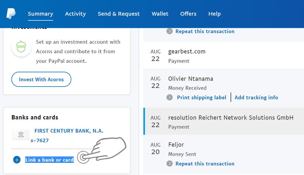 Lier Banque à PayPal Comment récupérer l'argent PayPal dans n'importe quel pays (non supporté par le virement PayPal)