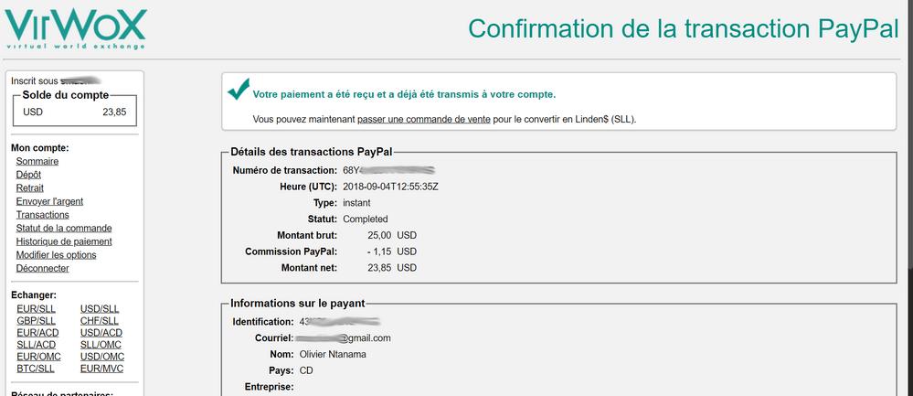 confirmation paypal virwox Acheter des bitcoins rapidement, sans vérification avec PayPal