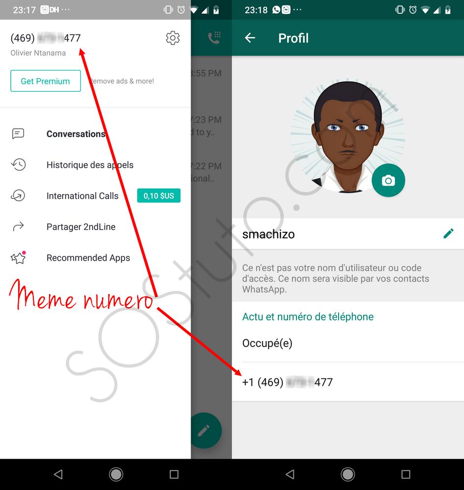 numero americain pour WhatsApp avec 2ndLine Télécharger 2ndLine APK pour avoir un numéro virtuel gratuit USA