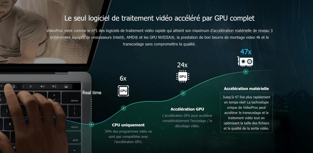 traitement video accelere VideoProc : Pour éditer et traiter des vidéos GoPro 4K + Gagnez une GoPro Hero 7