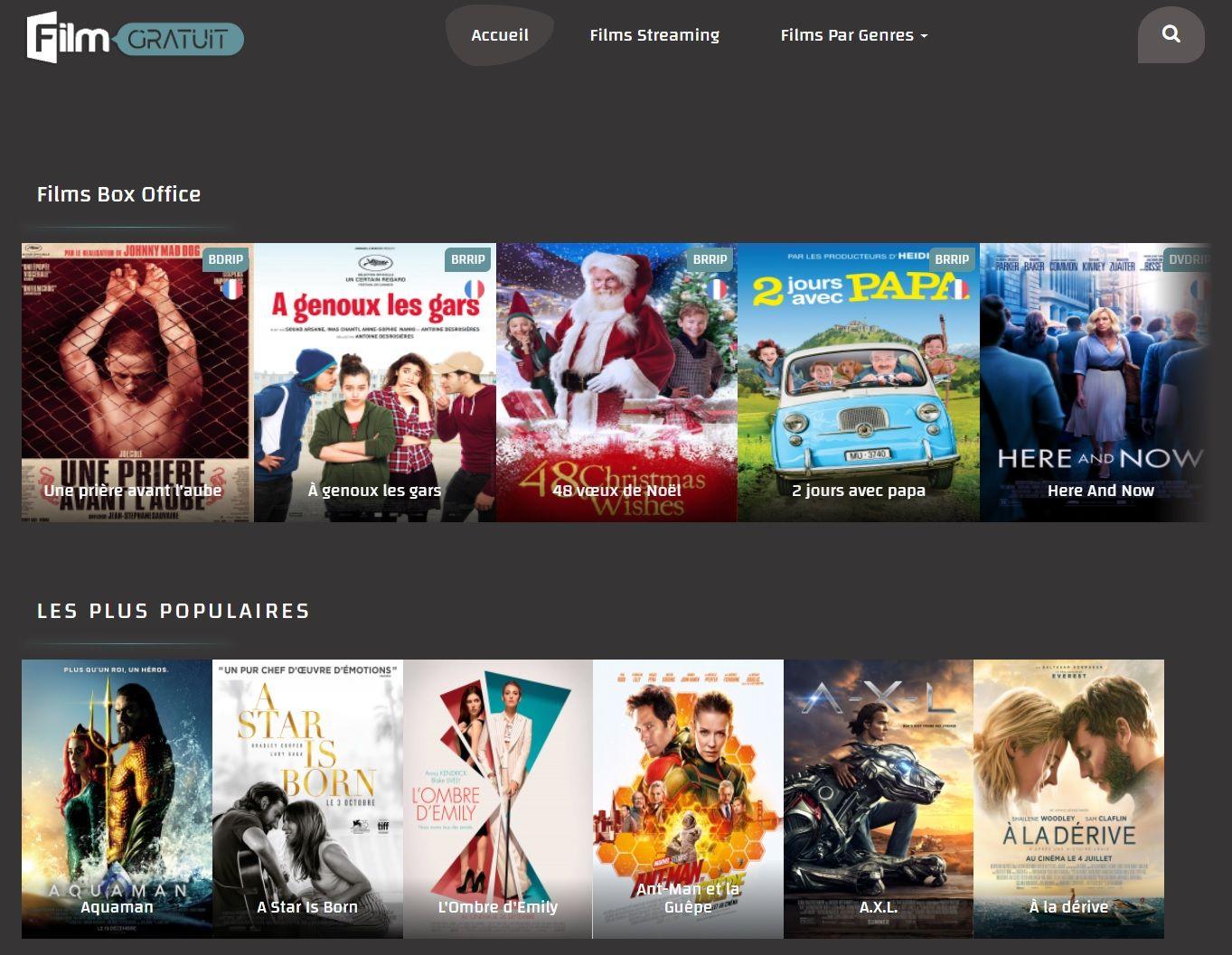 FilmGratuit.net Les Sites de Streaming Gratuits pour voir les Films et Séries en Français