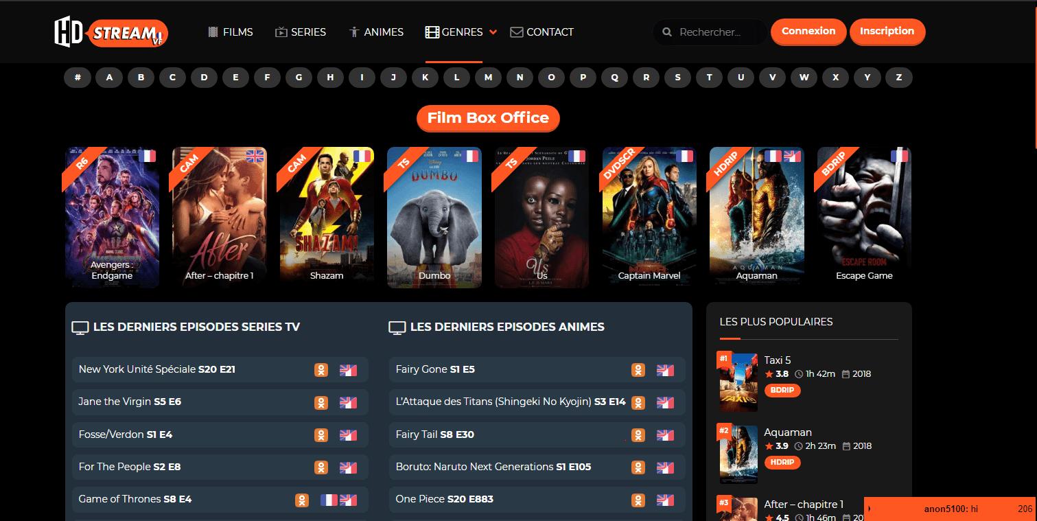 HD Streaming Vf Les Sites de Streaming Gratuits pour voir les Films et Séries en Français