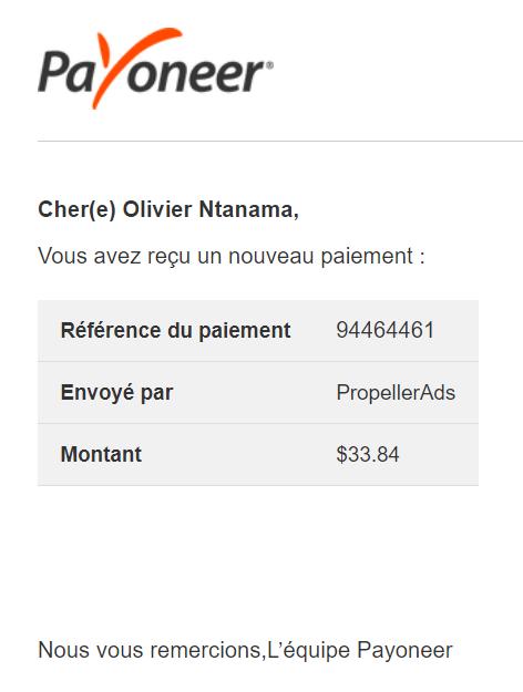 PropellerAds 1 Les meilleurs sites pour gagner de l'argent qui paient via Payoneer