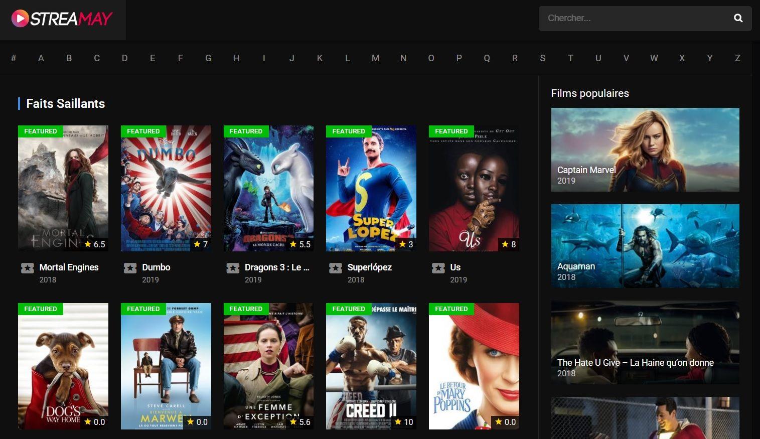 Streamay Les Meilleurs Sites de Streaming Gratuits - Films et Séries en Français