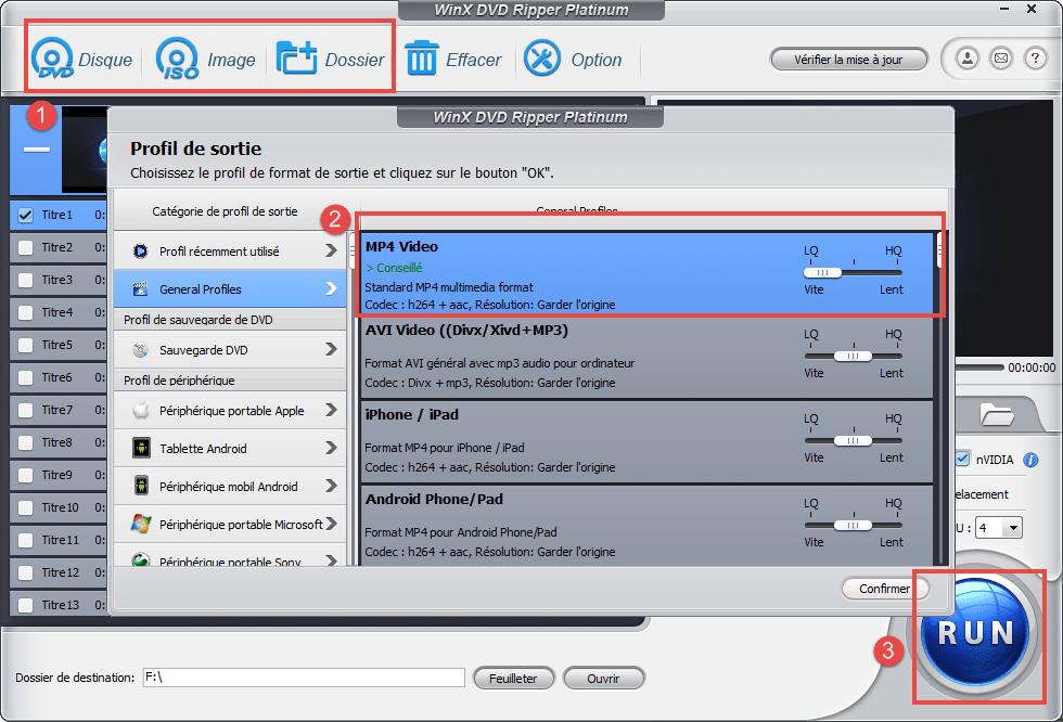 convertir DVD en MP4 Tuto : Comment Convertir un DVD en MP4 en 3 Étapes Faciles