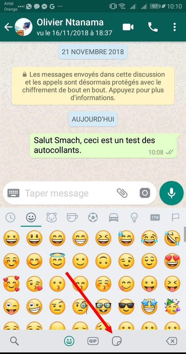 emojis WhatsApp Comment Télécharger & Envoyer des Stickers sur WhatsApp