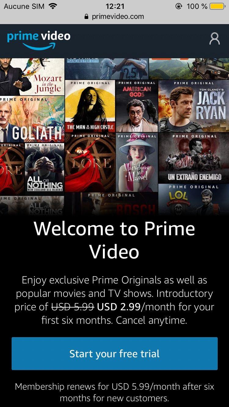 Amazon Prime Start Free Trial Comment Avoir un Compte Amazon Prime Vidéo gratuitement