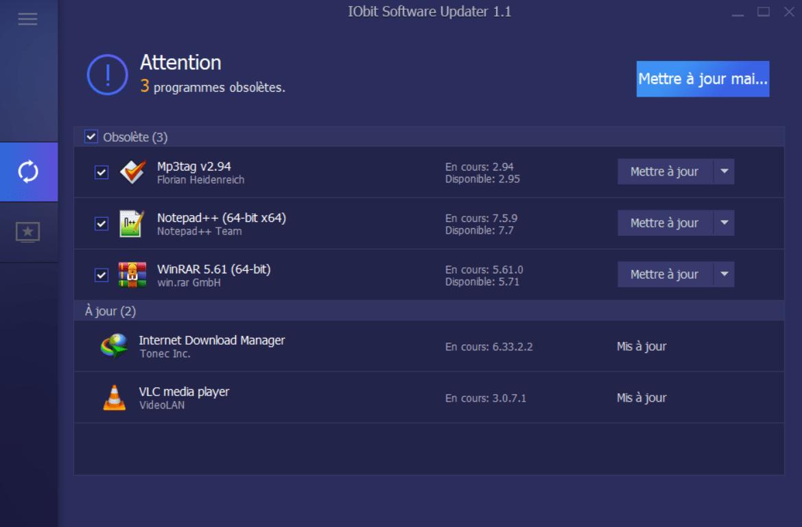IObit Software Updater 1 Comment Mettre à Jour Tous les Logiciels sur PC Windows en un Clic