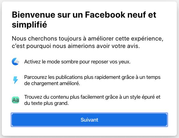 Bienvenue sur le nouveau Facebook Comment Activer le Nouveau Design Facebook avec Mode Sombre