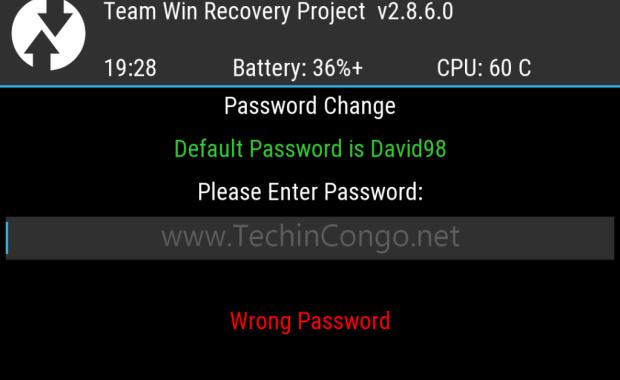 TWRP mot de passe Comment protéger TWRP Recovery avec un mot de passe