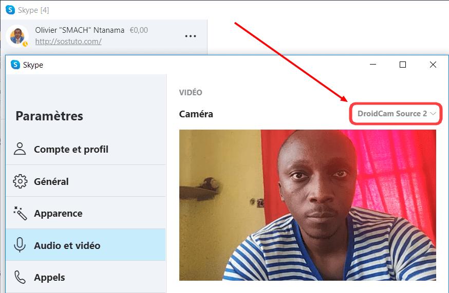 Choisir Camera dans Skype Comment Utiliser Son Smartphone Comme Webcam sur PC et Mac