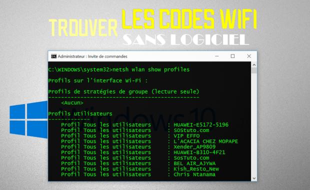 Pirater WiFi avec CMD Comment trouver les mots de passe WiFi enregistrés sans logiciel sous Windows