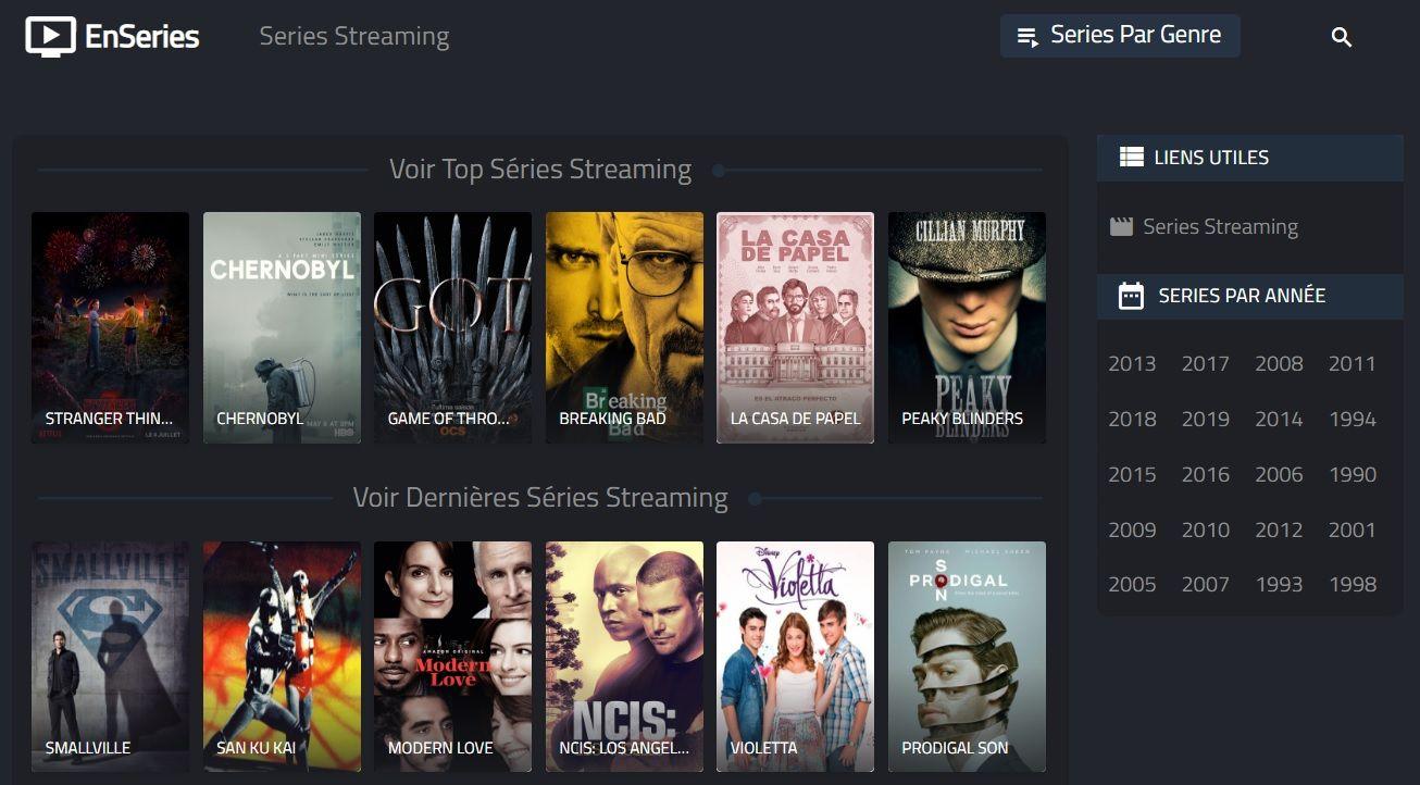 EnSeries Les Meilleurs Sites de Streaming Gratuits - Films et Séries en Français