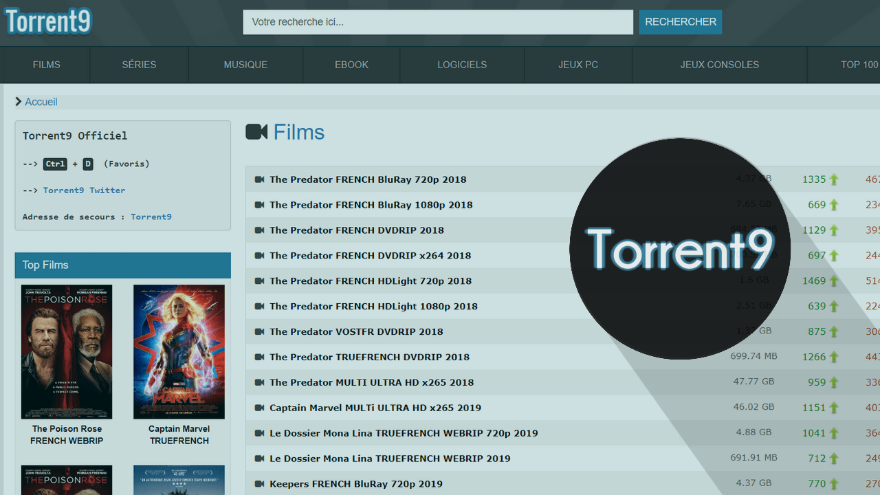 Nouvelle Adresse Torrent9 Proxy Nouvelle Adresse Torrent9 – 8 Meilleurs Sites Miroirs & Clones de Torrent9