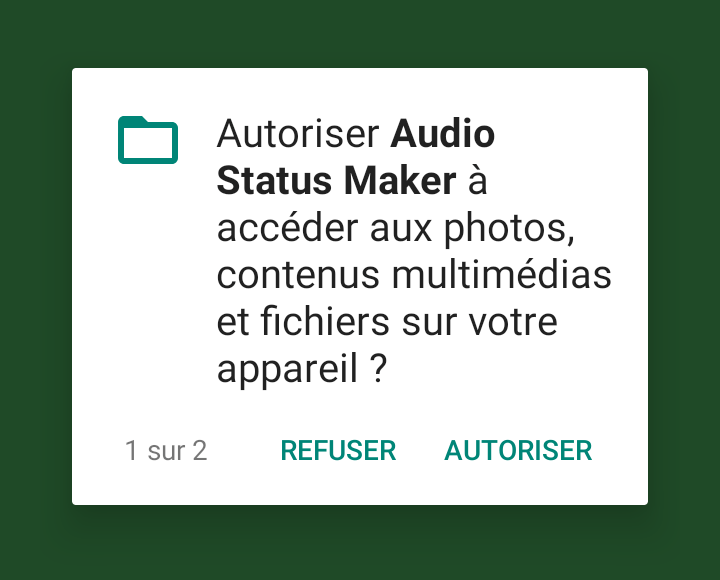 Autorisation Audio Status Maker Comment Mettre une Chanson Audio en Statut WhatsApp