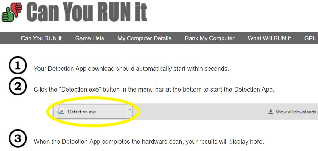 Detection Automatique Comment Savoir Si un PC est Compatible avec un Jeu?