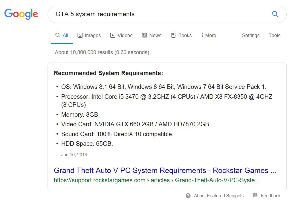 GTA 5 System Requirements Comment Savoir Si un PC est Compatible avec un Jeu?
