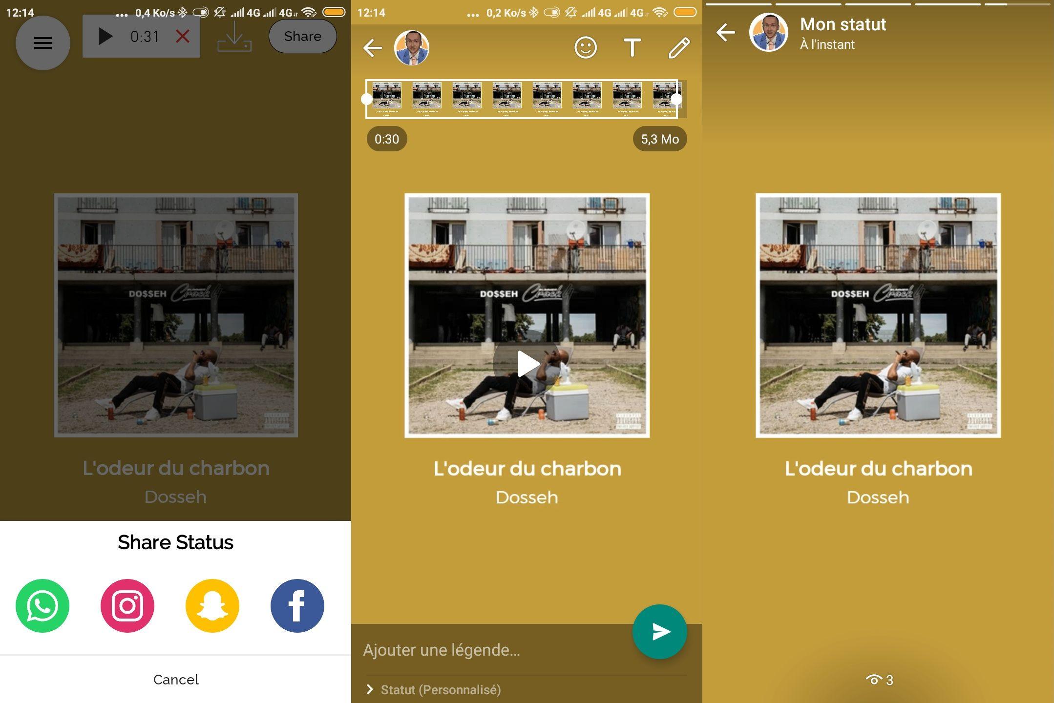 WhatsApp Status Audio Comment Mettre une Chanson Audio en Statut WhatsApp, Instagram