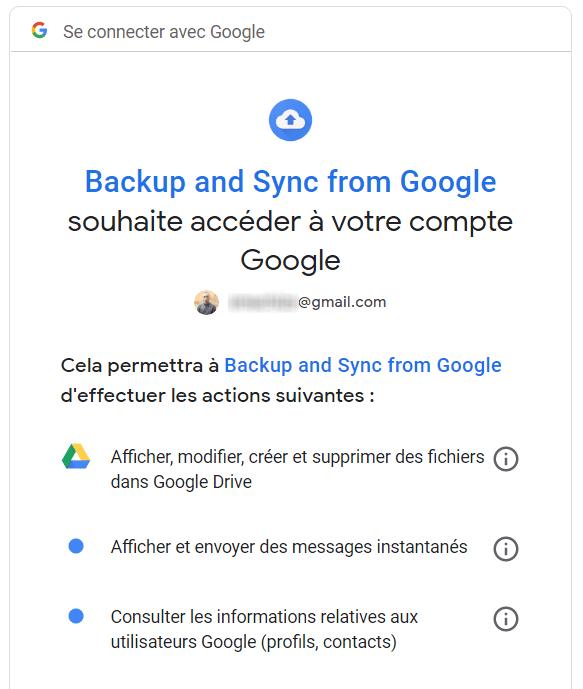 Backup and Sync Connexion Google Comment Synchroniser un Dossier de votre Ordinateur avec Google Drive ou OneDrive
