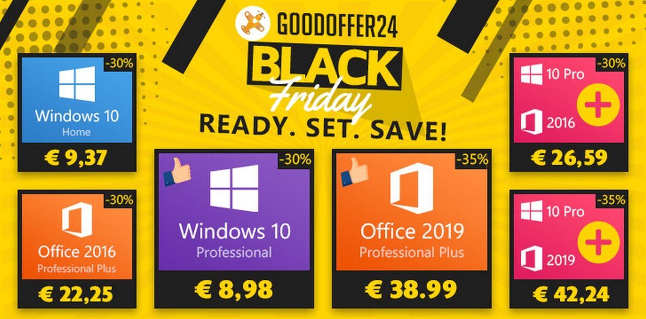 Black Friday Windows et Office 🔥 Offres Black Friday : Jusqu'à -40% sur les Produits Office 2019 & des Réductions sur tous les Logiciels
