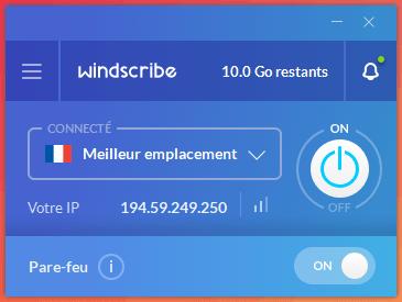 Windscribe Les Meilleurs VPN Gratuits Illimité pour Windows 10 en 2020