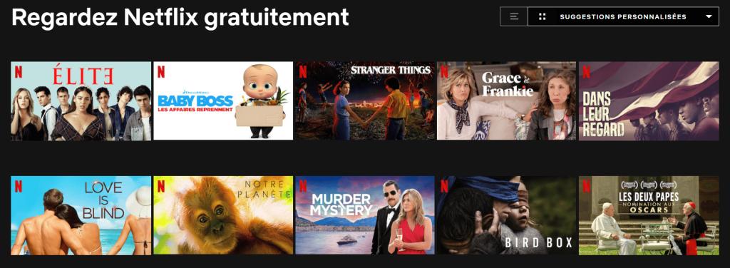 10 Series Films Netflix Gratuitement 1024x376 Netflix Gratuit : 10 Films et Séries à Regarder sur Netflix.com Sans Abonnement
