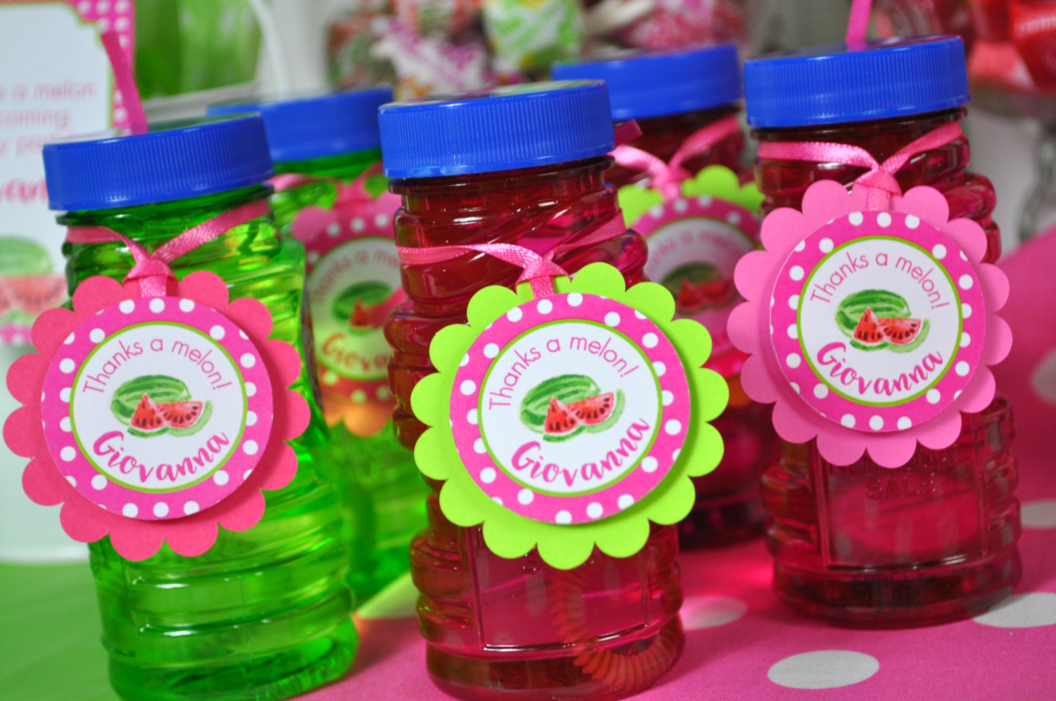 watermelon party favor tags
