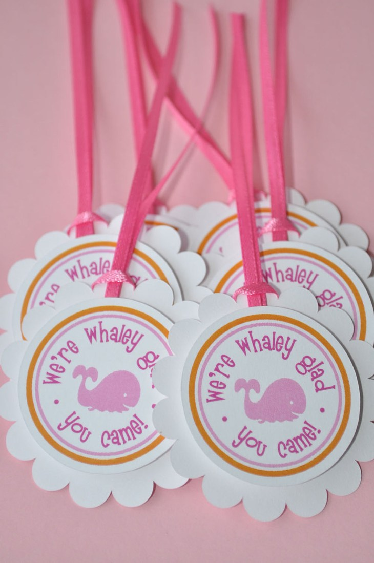 Whale Baby Shower Favor ...