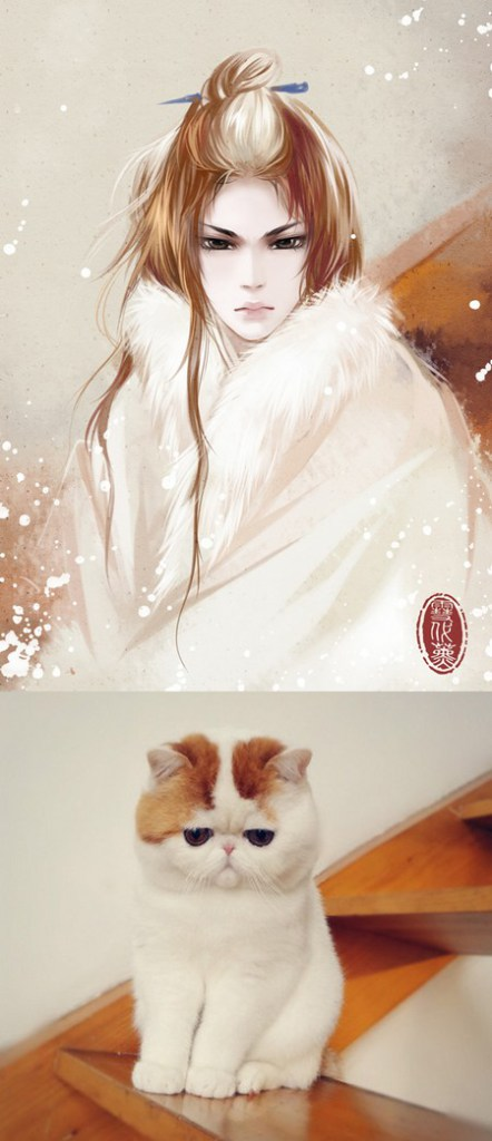 Chinese artist personifies pictures of cats and dogs into captivating traditional paintings