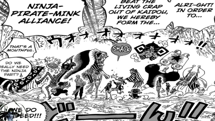 The lie of Usopp which foreshadows the last member of the Straw Hats
