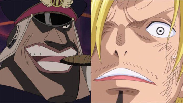 Sanji vs Shiryu of the Blackbeard Pirates