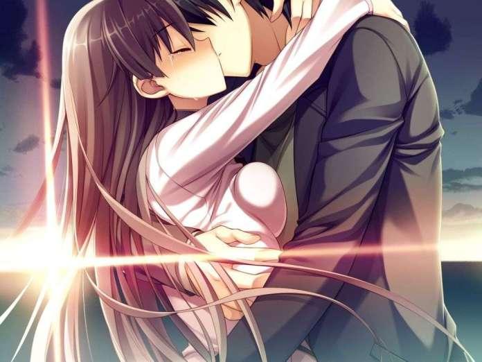Romantic Kiss Anime Wallpaper