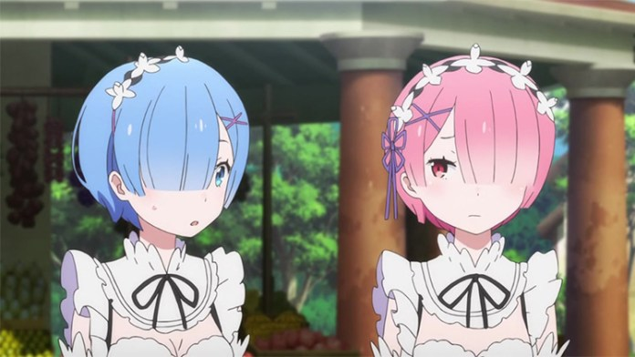 Rem and Ram in Re: Zero anime