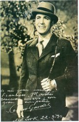 Carlos Gardel depuis New-York