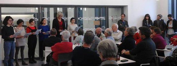 LECTURE - Les Entendre Dire 2016 au Café des Savoirs sur des textes des Lumières (Montesquieu, Kant, Voltaire et Diderot) le 29 mars 2016 - © Paule Géry