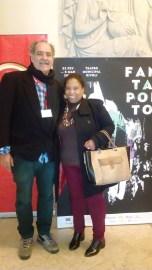 Cineasta Marcelo Santiago e Promotora Cultural Cristina Bernardini