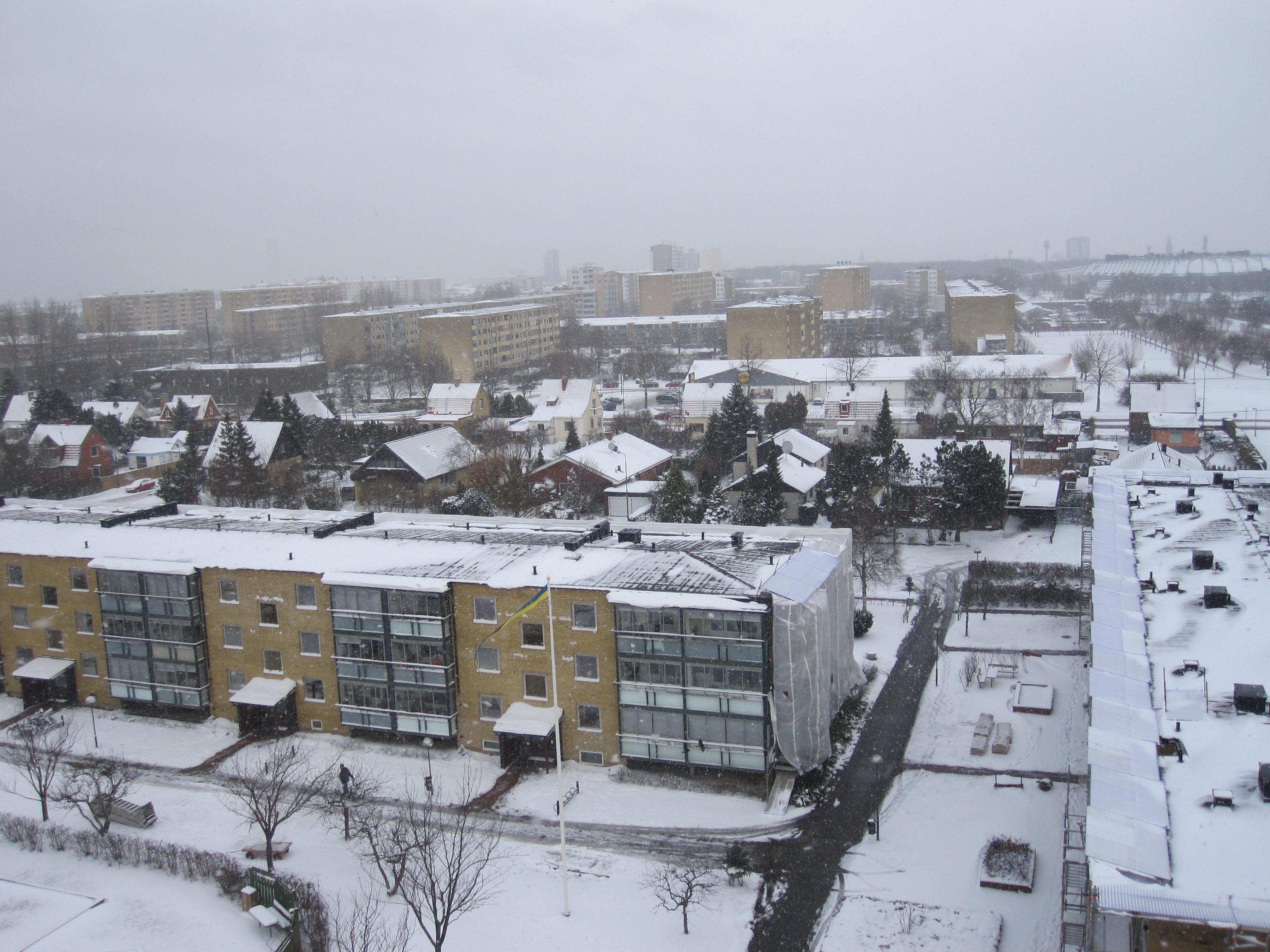 Lite grand från ovan. Notera Swedbank stadion uppe till vänster.
