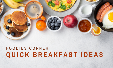 a splash of some quick breakfast ideas