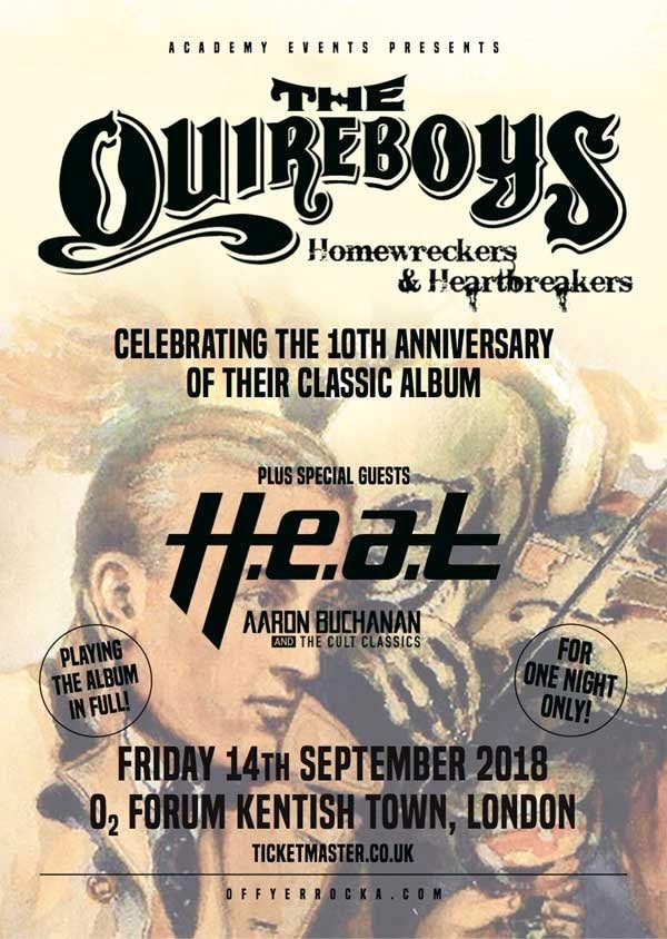 THE QUIREBOYS To Release 10th-Anniversary Edition Of 'Homewreckers & Heartbreakers'