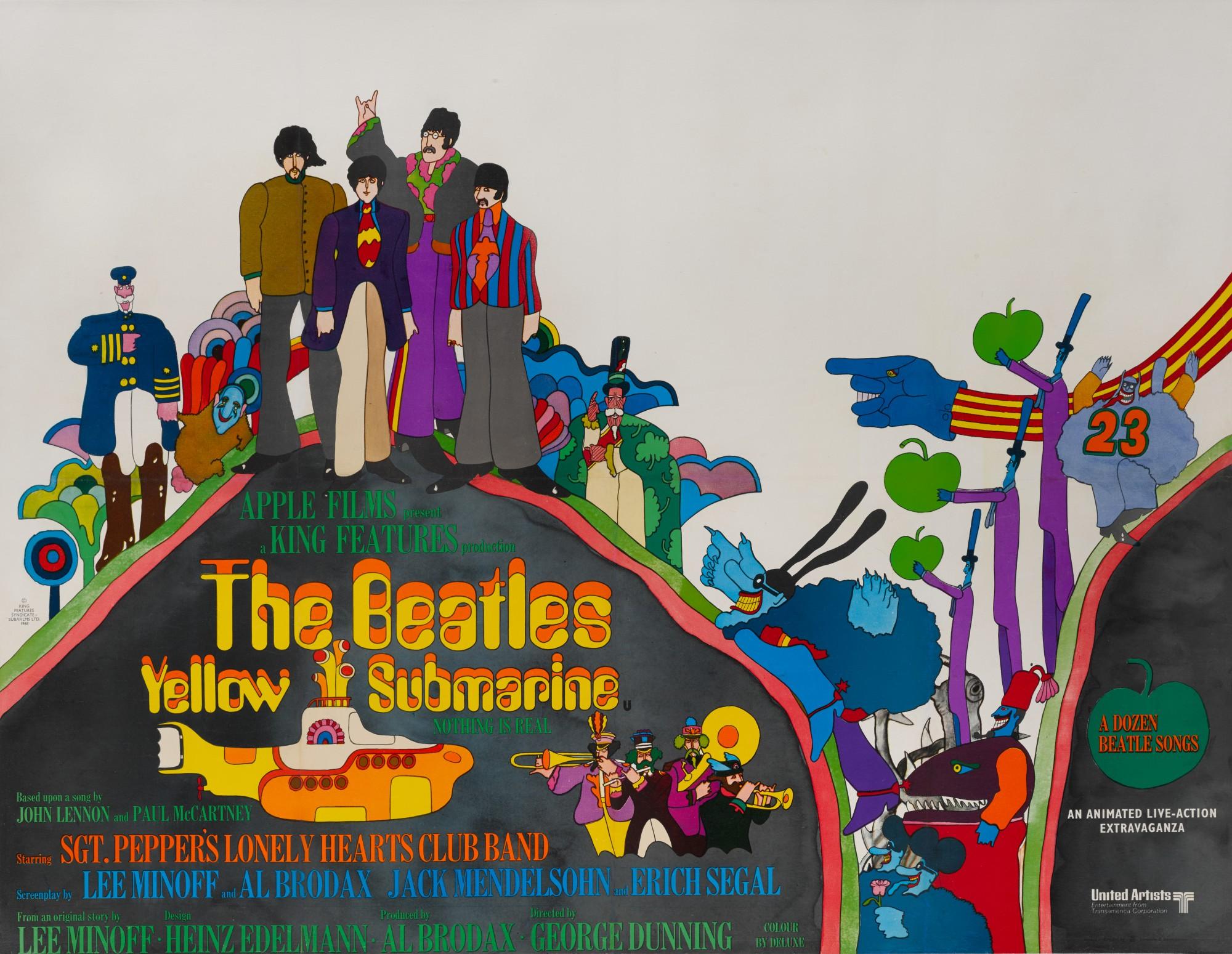 yellow submarine 1968 poster british