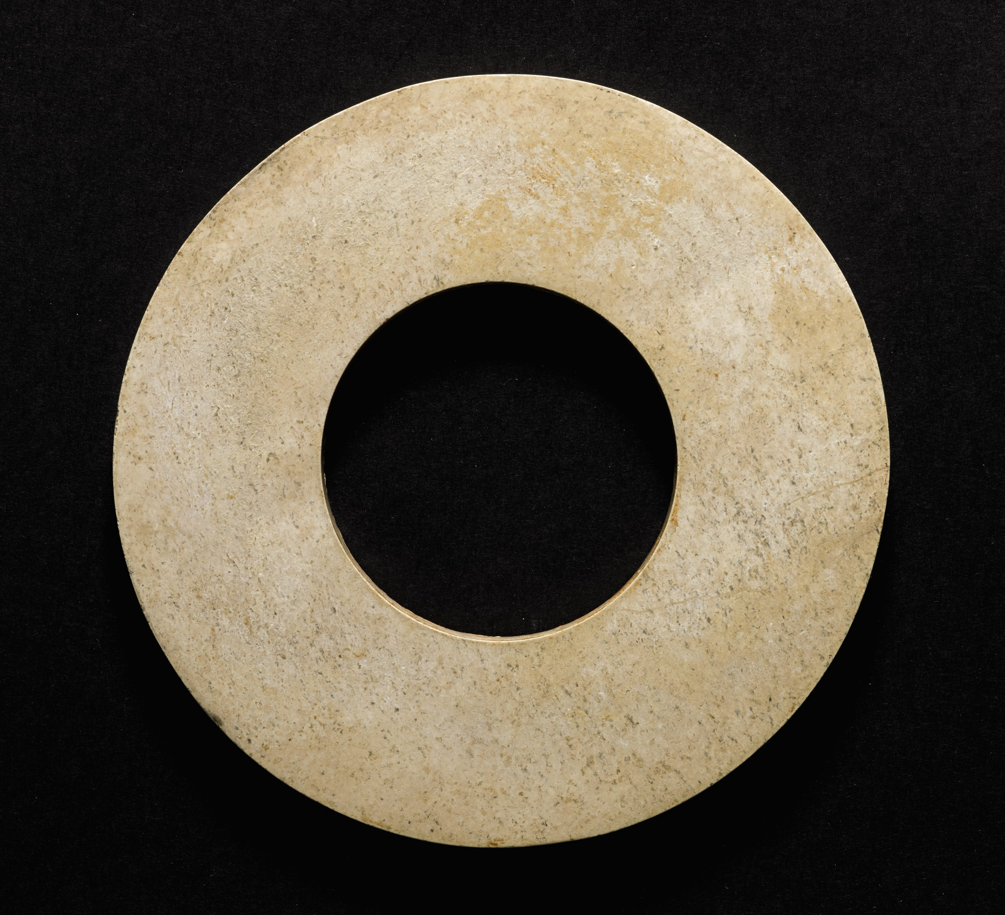 A JADE RING, HUAN NEOLITHIC PERIOD, LIANGZHU CULTURE   新石器時代 良渚文化玉環   Important Chinese Art   Chinese Works of Art   Sotheby's