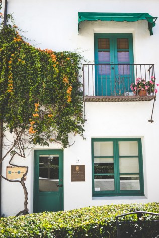 Tiny courtyard off Santa Barbara's State Street