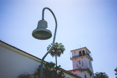 Next to the Courthouse tower, a mission bell similar to the ones marking El Camino Real, a 600-mile road connecting California's 21 Spanish missions