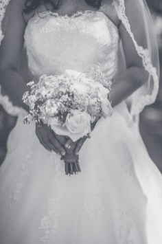 Bridal flowers, black and white
