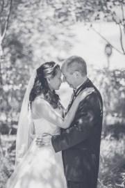 Bramblett Wedding close up black and white