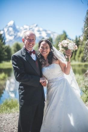 Bramblett Wedding, Grand Tetons background